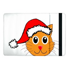 Cat Christmas Cartoon Clip Art Samsung Galaxy Tab Pro 10 1  Flip Case