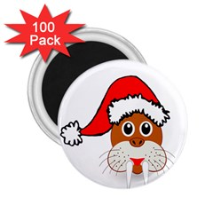 Child Of Artemis Christmas Animal Clipart 2 25  Magnets (100 Pack)