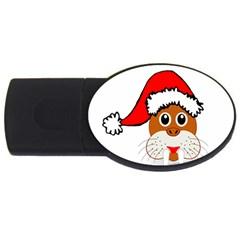 Child Of Artemis Christmas Animal Clipart Usb Flash Drive Oval (4 Gb)