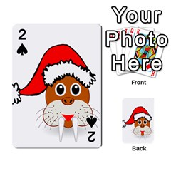 Child Of Artemis Christmas Animal Clipart Playing Cards 54 Designs