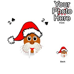 Child Of Artemis Christmas Animal Clipart Playing Cards 54 (heart)