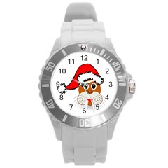 Child Of Artemis Christmas Animal Clipart Round Plastic Sport Watch (l)
