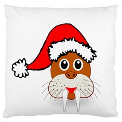 Child Of Artemis Christmas Animal Clipart Large Cushion Case (two Sides)