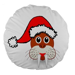 Child Of Artemis Christmas Animal Clipart Large 18  Premium Round Cushions