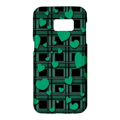 Green love Samsung Galaxy S7 Hardshell Case