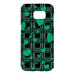 Green love Samsung Galaxy S7 Edge Hardshell Case