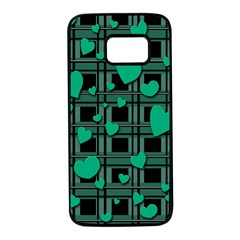Green love Samsung Galaxy S7 Black Seamless Case