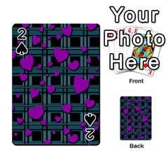 Purple love Playing Cards 54 Designs