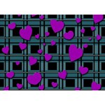 Purple love I Love You 3D Greeting Card (7x5) Front