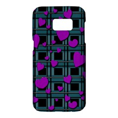 Purple love Samsung Galaxy S7 Hardshell Case