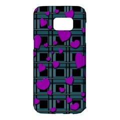 Purple love Samsung Galaxy S7 Edge Hardshell Case