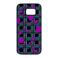 Purple love Samsung Galaxy S7 edge Black Seamless Case