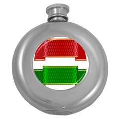 Christmas Banners Clipart Round Hip Flask (5 Oz)