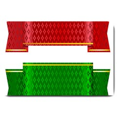 Christmas Banners Clipart Large Doormat