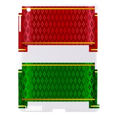 Christmas Banners Clipart Apple Ipad 3/4 Hardshell Case (compatible With Smart Cover)