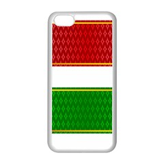 Christmas Banners Clipart Apple Iphone 5c Seamless Case (white)