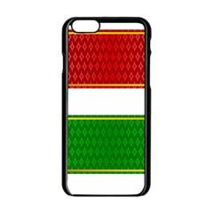 Christmas Banners Clipart Apple Iphone 6/6s Black Enamel Case