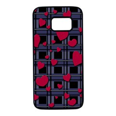 Decorative love Samsung Galaxy S7 Black Seamless Case