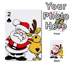 Christmas Santa Claus Playing Cards 54 Designs