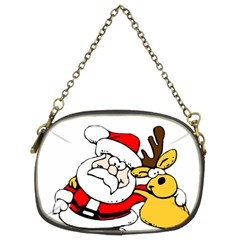 Christmas Santa Claus Chain Purses (two Sides)