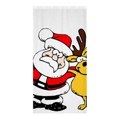Christmas Santa Claus Shower Curtain 36  X 72  (stall)