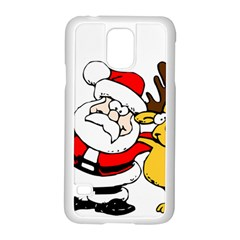 Christmas Santa Claus Samsung Galaxy S5 Case (white)