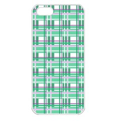 Green Plaid Pattern Apple Iphone 5 Seamless Case (white)