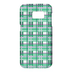 Green plaid pattern Samsung Galaxy S7 Hardshell Case
