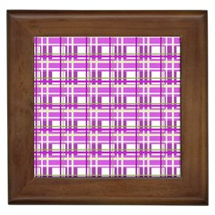 Purple plaid pattern Framed Tiles