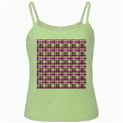 Purple plaid pattern Green Spaghetti Tank