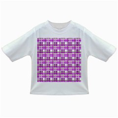 Purple plaid pattern Infant/Toddler T-Shirts