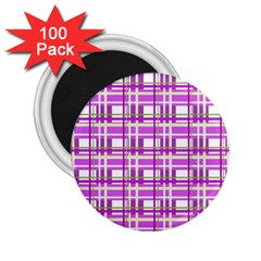 Purple plaid pattern 2.25  Magnets (100 pack)