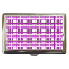 Purple plaid pattern Cigarette Money Cases