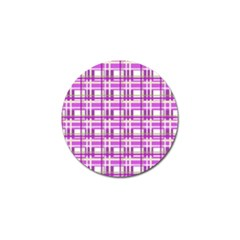 Purple plaid pattern Golf Ball Marker (4 pack)