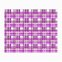 Purple plaid pattern Small Glasses Cloth
