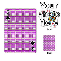 Purple plaid pattern Playing Cards 54 Designs