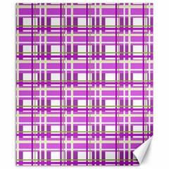 Purple plaid pattern Canvas 8  x 10