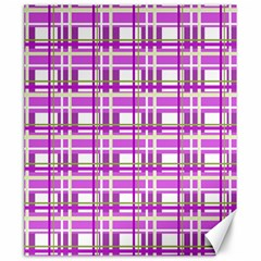 Purple plaid pattern Canvas 20  x 24