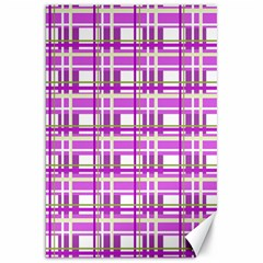 Purple plaid pattern Canvas 20  x 30