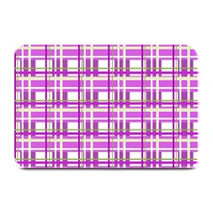 Purple plaid pattern Plate Mats