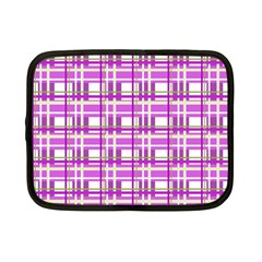 Purple plaid pattern Netbook Case (Small)