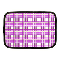 Purple plaid pattern Netbook Case (Medium)