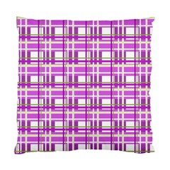 Purple plaid pattern Standard Cushion Case (One Side)