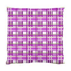 Purple plaid pattern Standard Cushion Case (Two Sides)