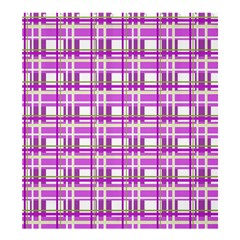 Purple plaid pattern Shower Curtain 66  x 72  (Large)