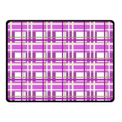 Purple plaid pattern Fleece Blanket (Small)
