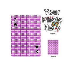 Purple plaid pattern Playing Cards 54 (Mini)