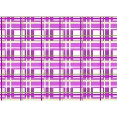 Purple plaid pattern Birthday Cake 3D Greeting Card (7x5)