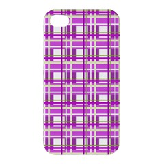 Purple plaid pattern Apple iPhone 4/4S Hardshell Case