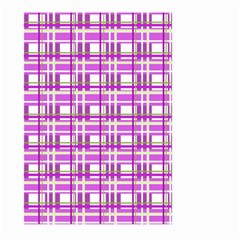 Purple plaid pattern Large Garden Flag (Two Sides)